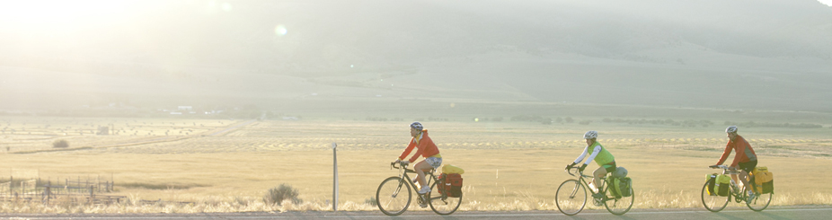 Cyclists in the Big Hole Valley