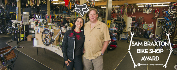 Owners of Bike Newport, 2010 winner of the Braxton Bike Shop Award