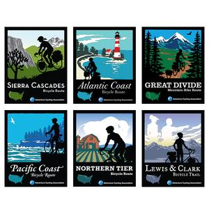Adventure Cycling Association Static Cling Route Decals