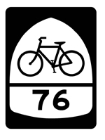 Image: Black & white version of U.S. Bike Route Sign