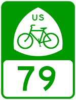 Image: Green & white version of U.S. Bike Route Sign