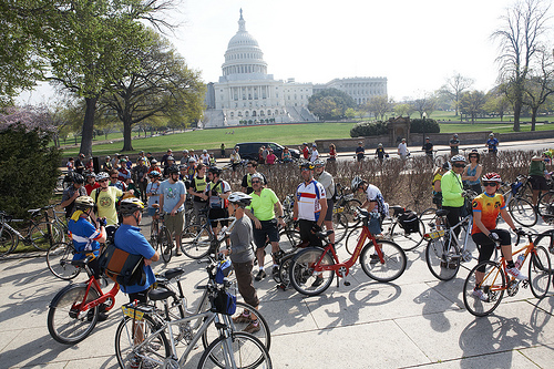 Cyclists at the Capitol for the National Bike Summit