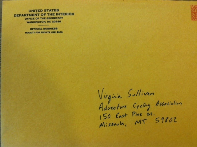 Letter from Department of Interior