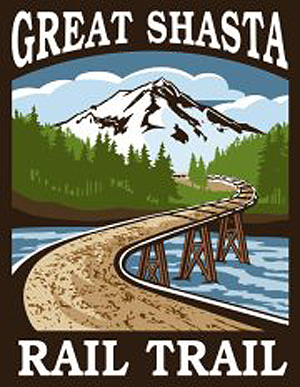 Great Shasta Rail Trail logo