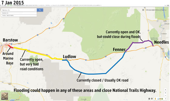 I 40 Closed Ludlow Map by Routes  amp Mapping Staff