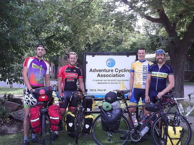 Visiting cyclists from 2012
