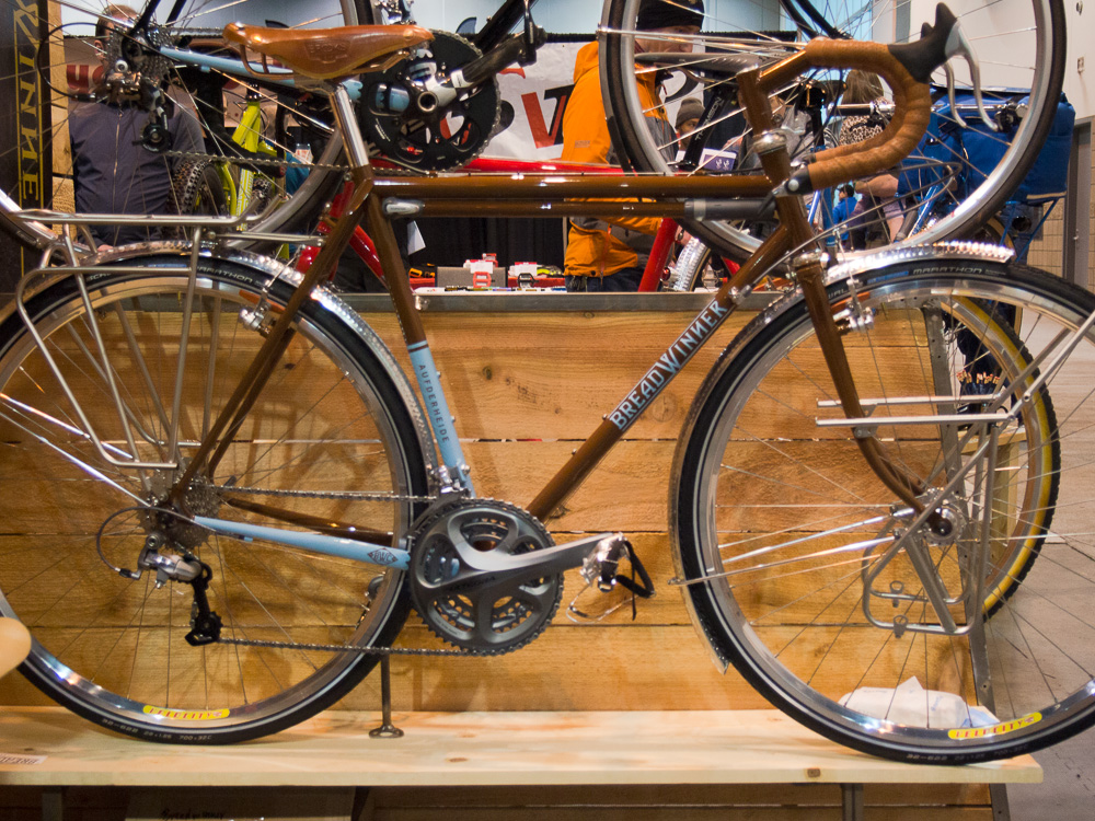 Traditional 700c touring bike by Breadwinner Cycles