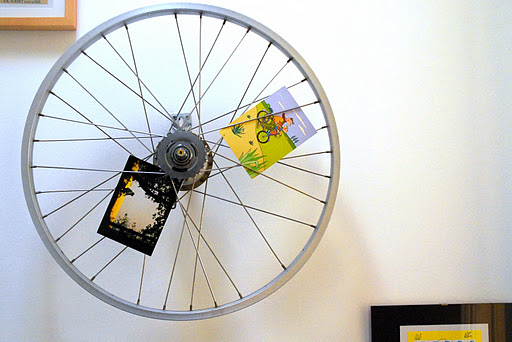 Recycle your touring bike adventure cycling association for Bicycle wheel wall art