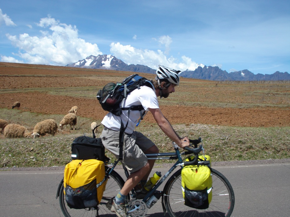 Cycle Touring With Backpack