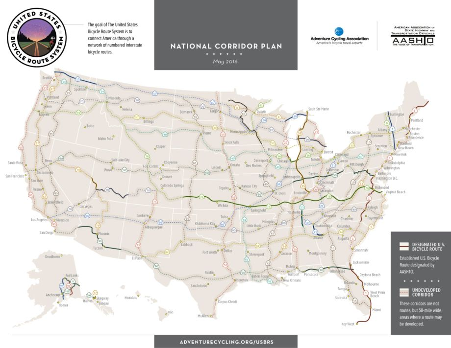 New US Bicycle Routes Expand Bicycle Travel Options in Four