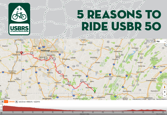 Five Reasons To Ride USBR In Pennsylvania Adventure Cycling - Map of us rt 50