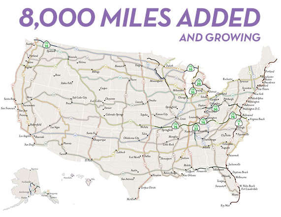 Adventure Cycling Launches Th Annual US Bicycle Route System - Us bike route 1 map