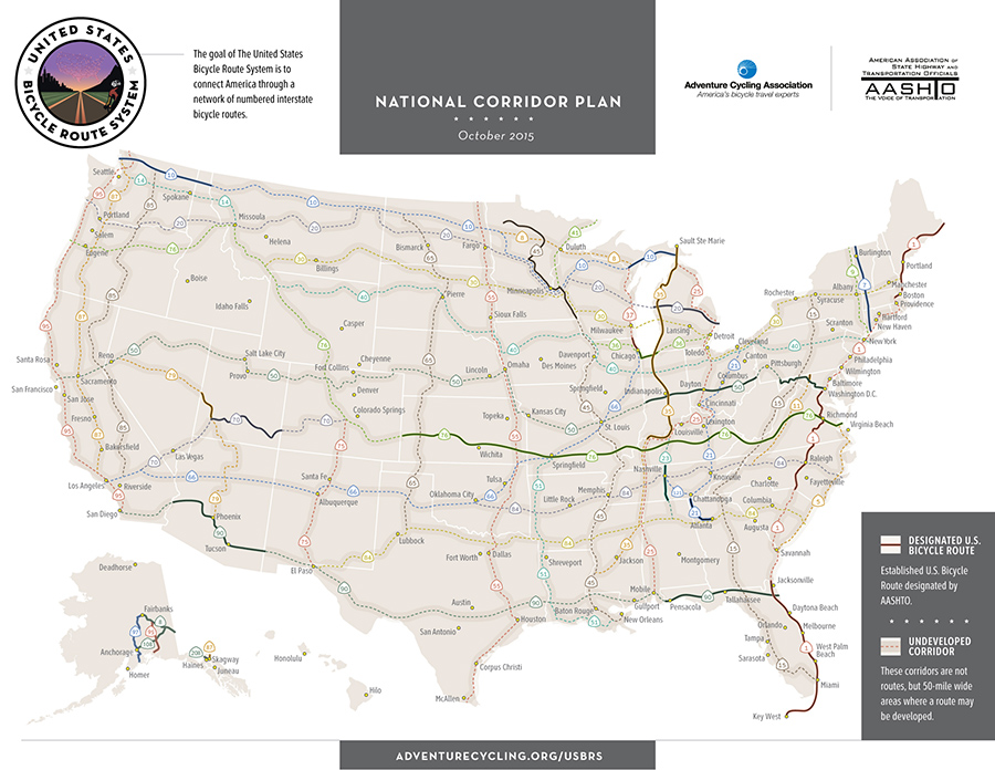 Aashto Approves Eight New U S Bicycle Routes In Vermont Georgia Indiana Arizona Ohio And Kansas Expanding Opportunities For National Bicycle Travel