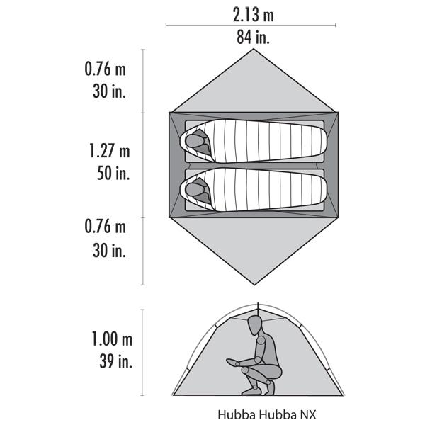 Hubba Hubba Dimensions. MSR Hubba Hubba NX 2 Person Tent ...  sc 1 st  Adventure Cycling Association & MSR Hubba Hubba NX 2 Person Tent - Camping | Adventure Cycling ...