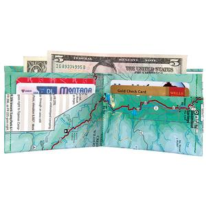 Recycled Bicycle Map Wallet