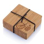 Bambu Bicycle Motif Coaster Set