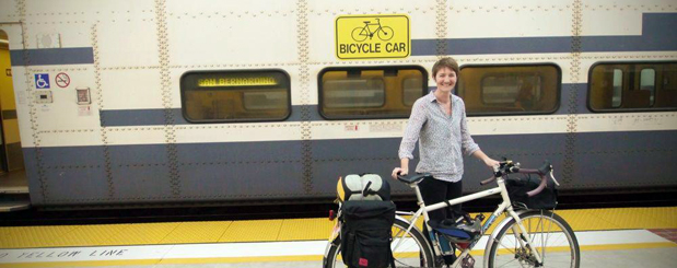 Boarding a train with a Brompton