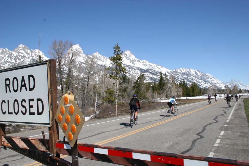 Cyclists in Grand Teton National Park
