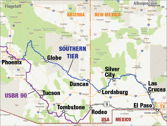 Talking US Bicycle Route Designation In New Mexico Adventure - Us bike route map