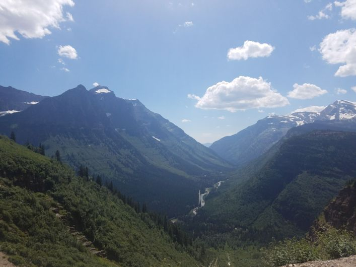 a view of McDonald Creek in Glacier National Park