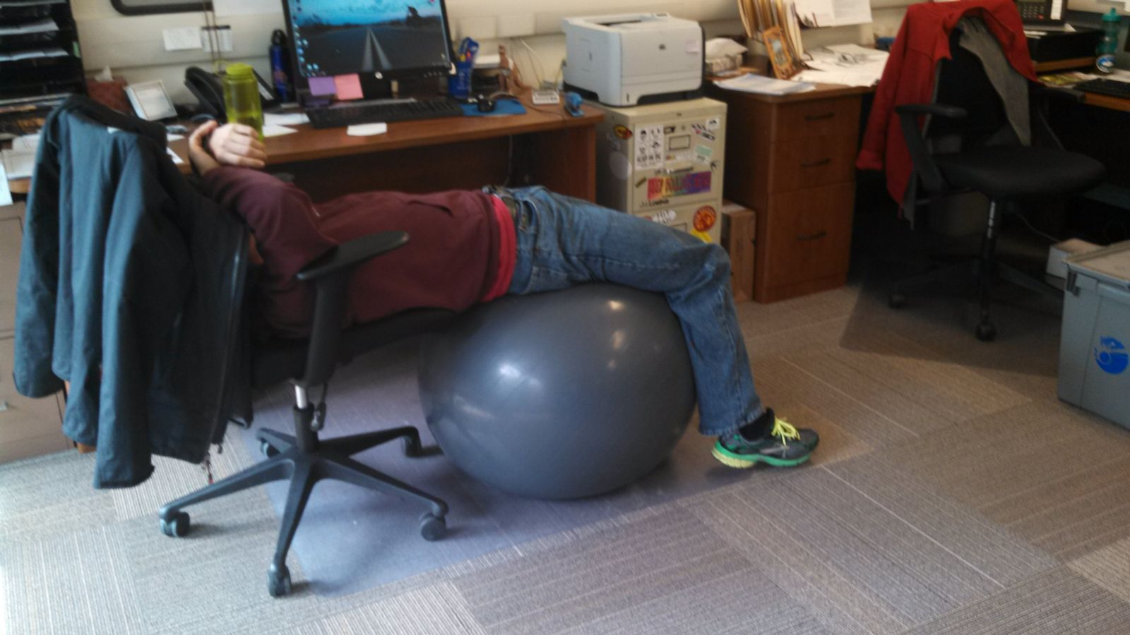 Tours department is on the ball adventure cycling association - Stability ball for office ...