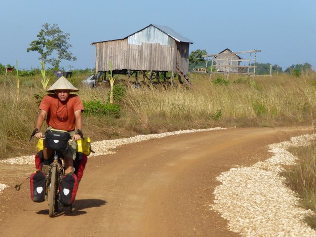 Willie rides in Cambodia