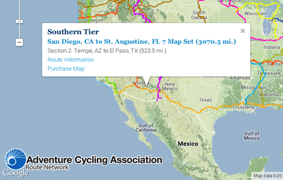Interactive Route Network Map Adventure Cycling Association