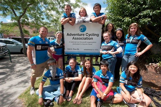 A group visits Adventure Cycling Association in Missoula, Montana. Photo by Greg Siple.