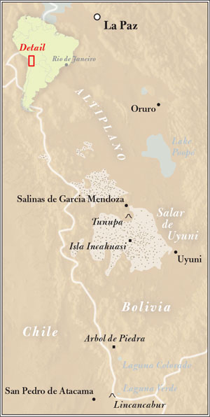 Map of Bolivia by Nathan Taylor