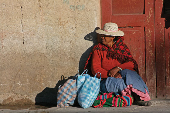 Local woman on the street in Uyuni, the last outpost of civilization in the southwest.