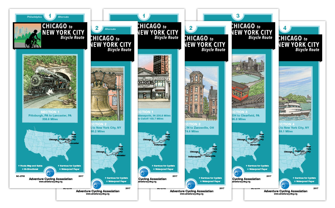 Bike New York Map.Bicycle Tripping From The Windy City To The Big Apple Chicago To