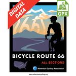 Bicycle Route 66 Map Set GPX Data
