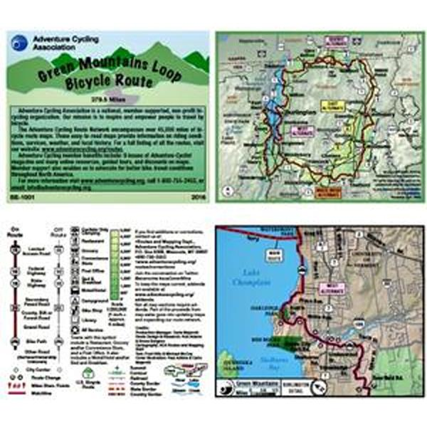 Adventure Cycling Association Green Mountains Loop - Physical Copy ...