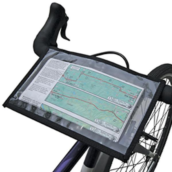 Bicycle touring cue clip for any size handlebars