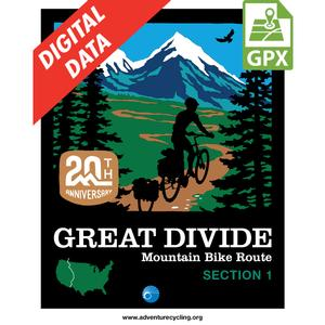 Great Divide Mountain Bike Route, Section 1 GPX Data