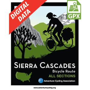 Sierra Cascades Map Set GPX Data