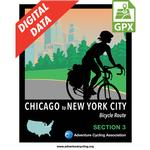 Chicago to New York City Section 3 GPX Data