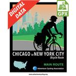 Chicago to New York City Main Set GPX Data