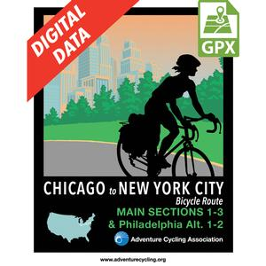 Chicago to New York City-Philadelphia Alternate Set GPX Data