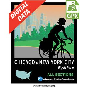 Complete Chicago to New York City Route Set GPX Data