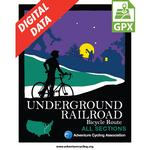Underground Railroad Map Set GPX Data