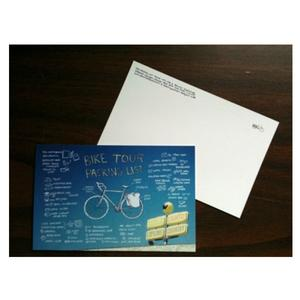 Bike Tour Packing List Postcards (4 in set)
