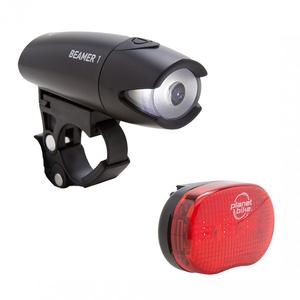 Planet Bike Planet Bike Beamer 1 Headlight and Blinky 3 Taillight Set