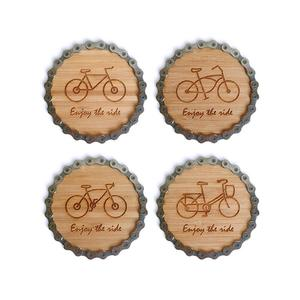 Resource Revival Bike Chain Coasters - Set of four