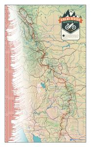 Adventure Cycling Association Great Divide Mountain Bike Route Poster