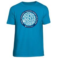 Adventure Cycling Association Keep the Wheels Turning T-Shirt