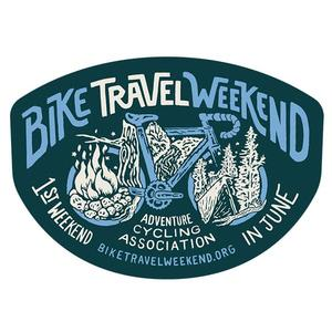Adventure Cycling Association Bike Travel Weekend Sticker (10-pack)