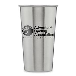 Adventure Cycling Association Steel Pint Glass