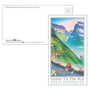 Adventure Cycling Association Going to the Sun Road Post Card