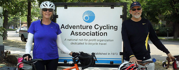 Adventure Cyclists visiting Missoula